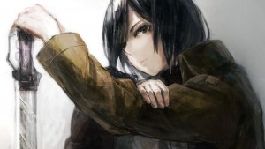 draw Mikasa Ackerman Attack On Titan High Resolution wallpaper