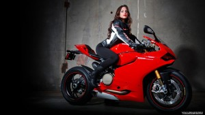 girl on red Ducati Panigale 1199 HD pics
