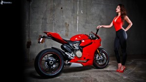girl with Ducati Panigale 1199 new wallpapers