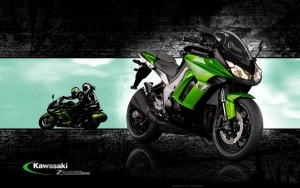 green Kawasaki Z1000sx widescreen
