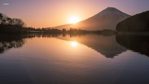 morning mount Fuji themes for PC