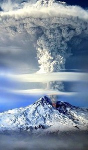 mount Ararat eruption iPhone Android wallpaper
