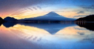 Best image of mount Fuji at sunset