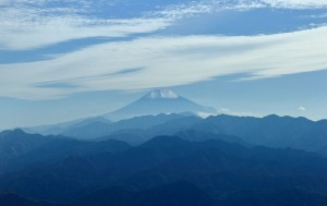 mount Fuji blue full HD image