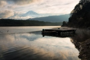 Cool mount Fuji lake photo