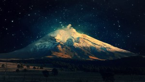 mount Fuji night sky desktop