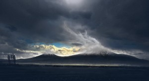 storm mount Ararat clouds widescreen