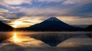 sun mount Fuji computer wallpaper