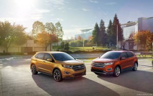 two Ford Edge 2015 full HD image