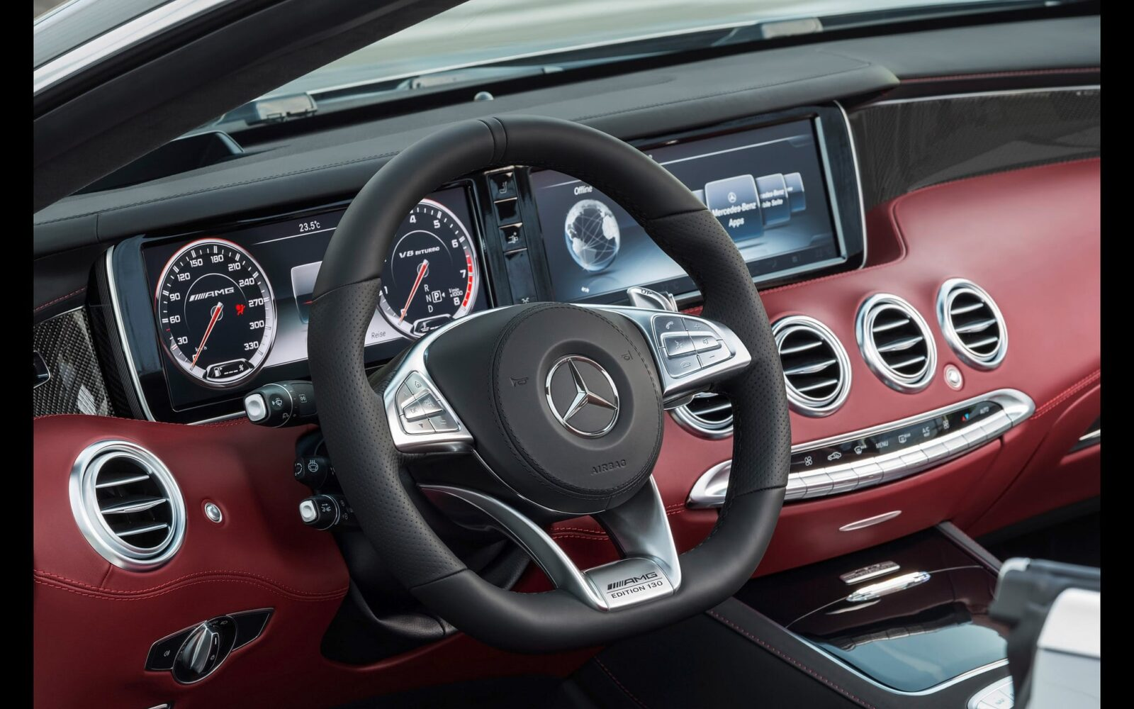 2016 Mercedes-AMG S63 cabriolet front panel wallpaper HD