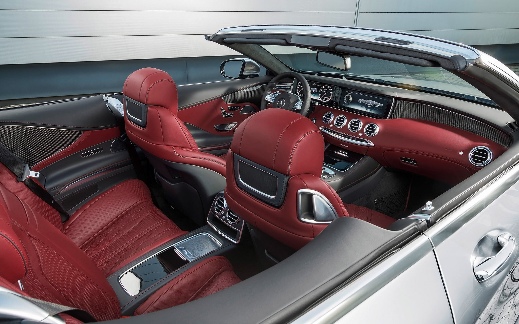 2016 Mercedes-AMG S63 cabriolet interior High Quality wallpapers