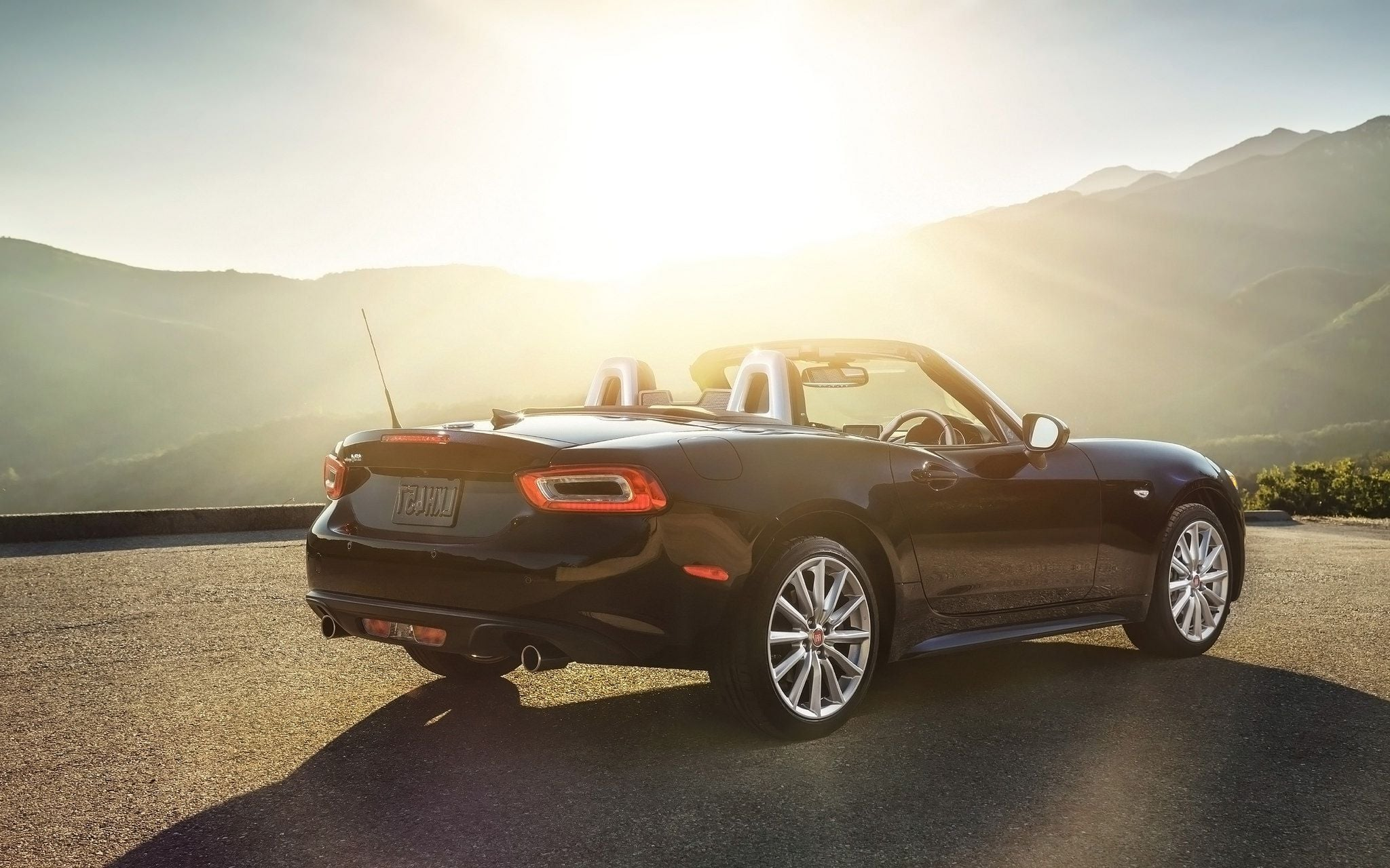 2017 Fiat 124 Spider sunset wallpaper 1080p