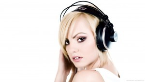 Full HD pics of Akg Headphones girl