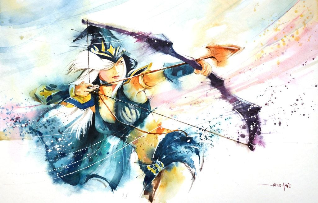 Best Ashe League of Legends abstract HD wallpaper