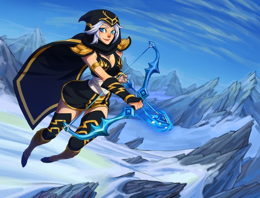 Ashe League of Legends art new wallpapers