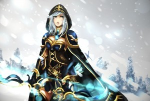 Ashe League of Legends art widescreen
