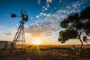 Australia sunset farm rural landscape wallpapers