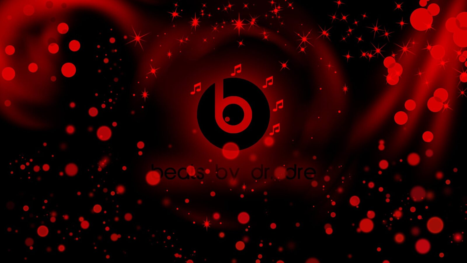 Black logo Beats By Dr Dre abstract 1920x1080 wallpaper