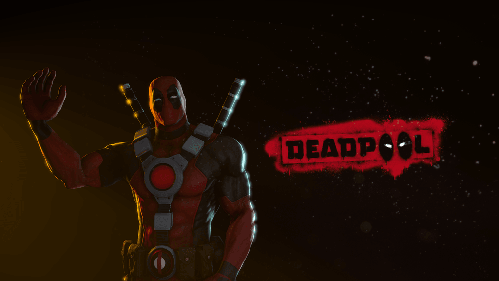 Deadpool black background
