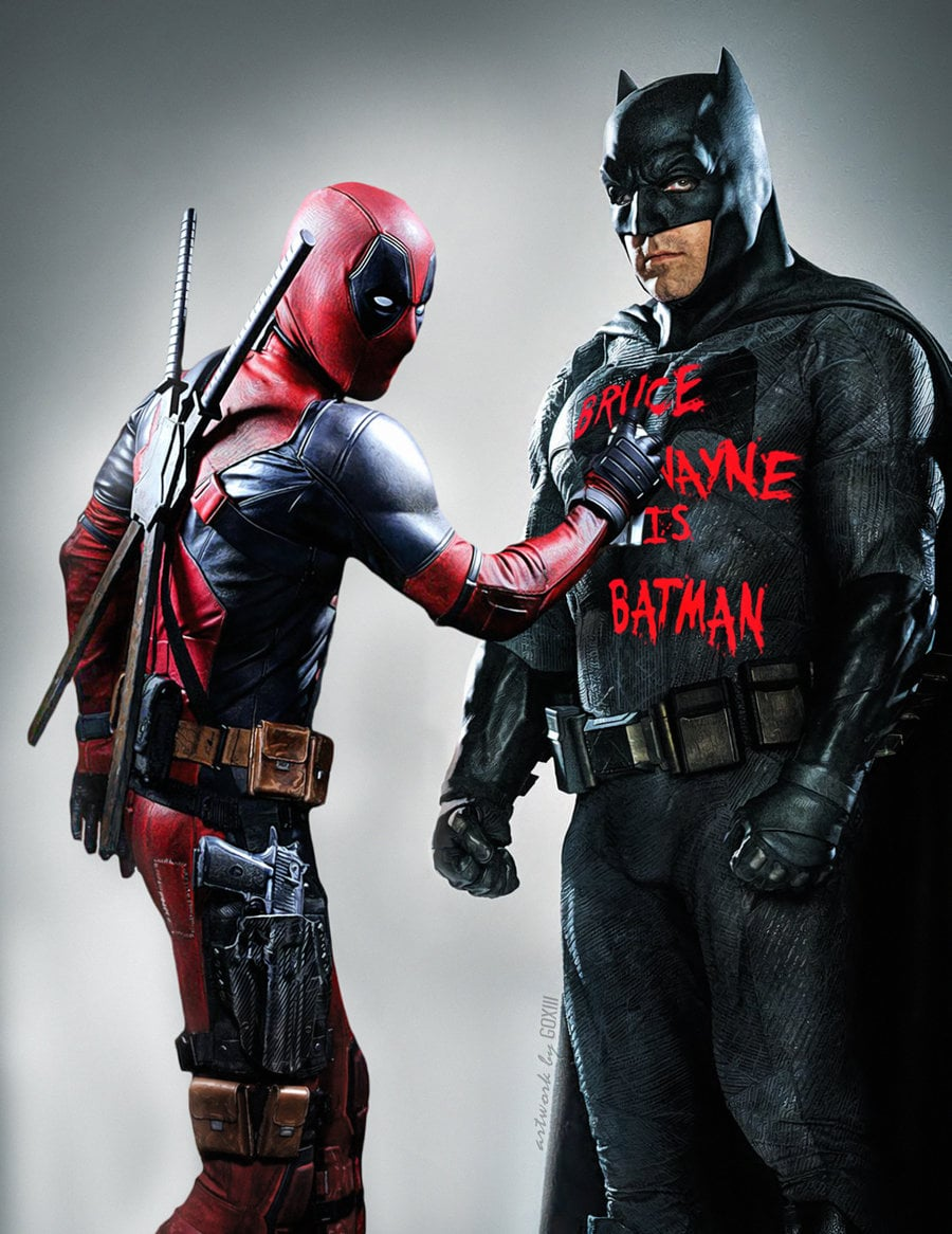 Deadpool and Batman 1920x1080 wallpaper