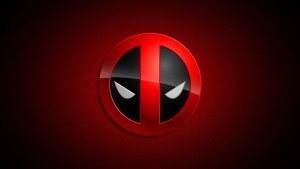 Wallpaper of Deadpool eyes logo