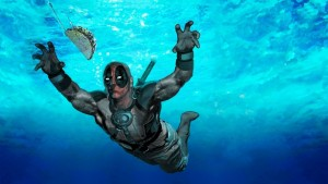 Deadpool under water full HD image