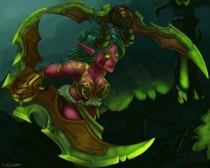 World of Warcraft Legion Demon Hunter wallpaper