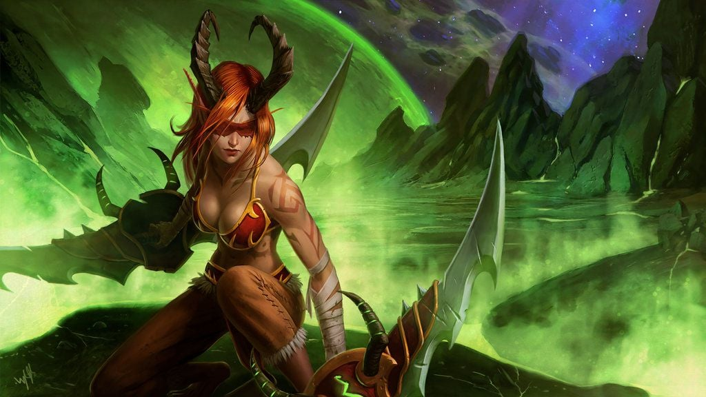 Wallpaper Demon Hunter World of Warcraft Legion HD