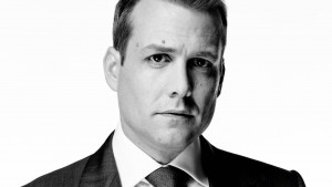 Image of Harvey Specter Gabriel Macht bw