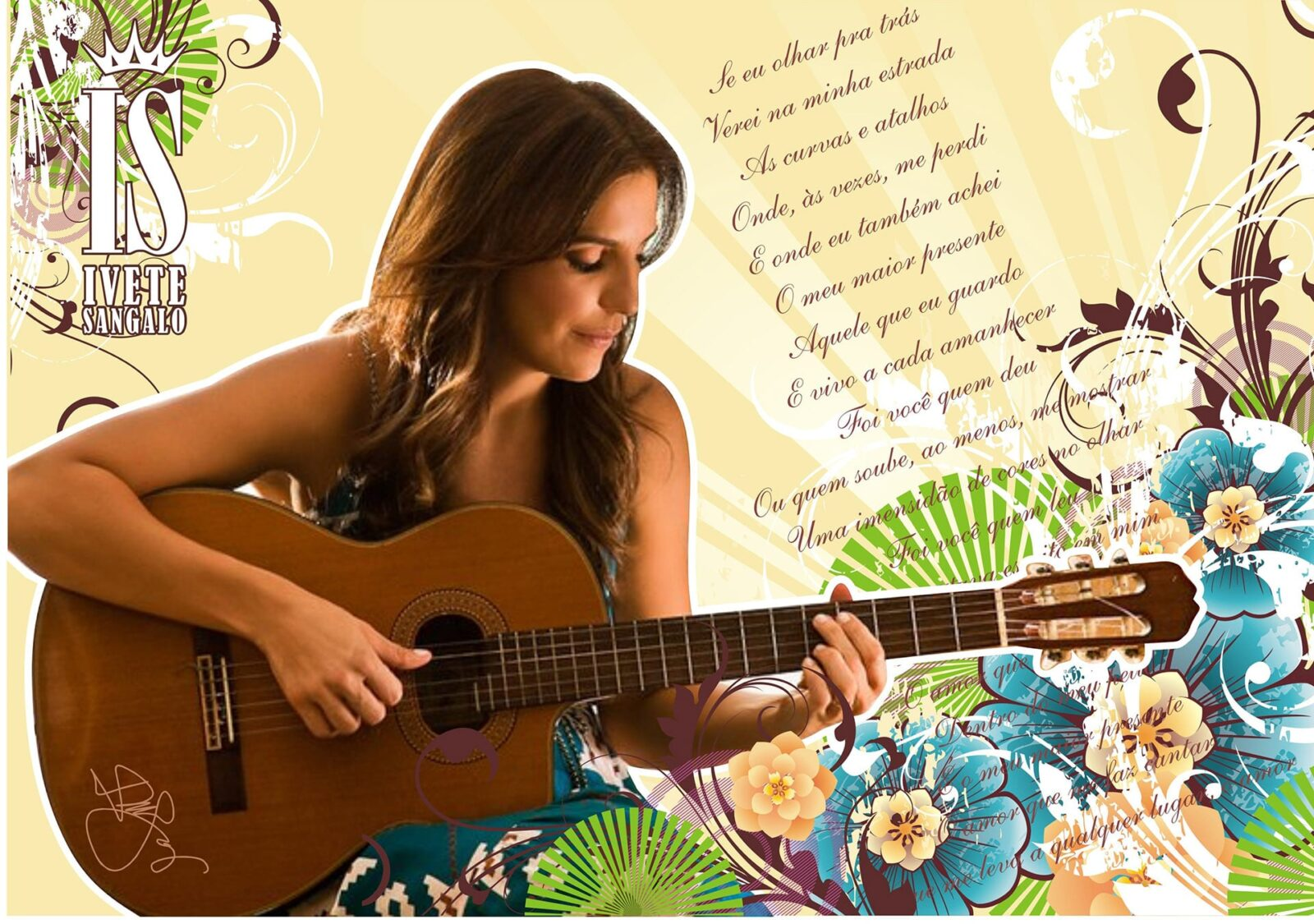 Best Ivete Sangalo with guitar wallpapers backgrounds