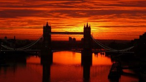 London Tower Bridge sunset 2016