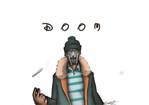MF Doom draw HD for desktop