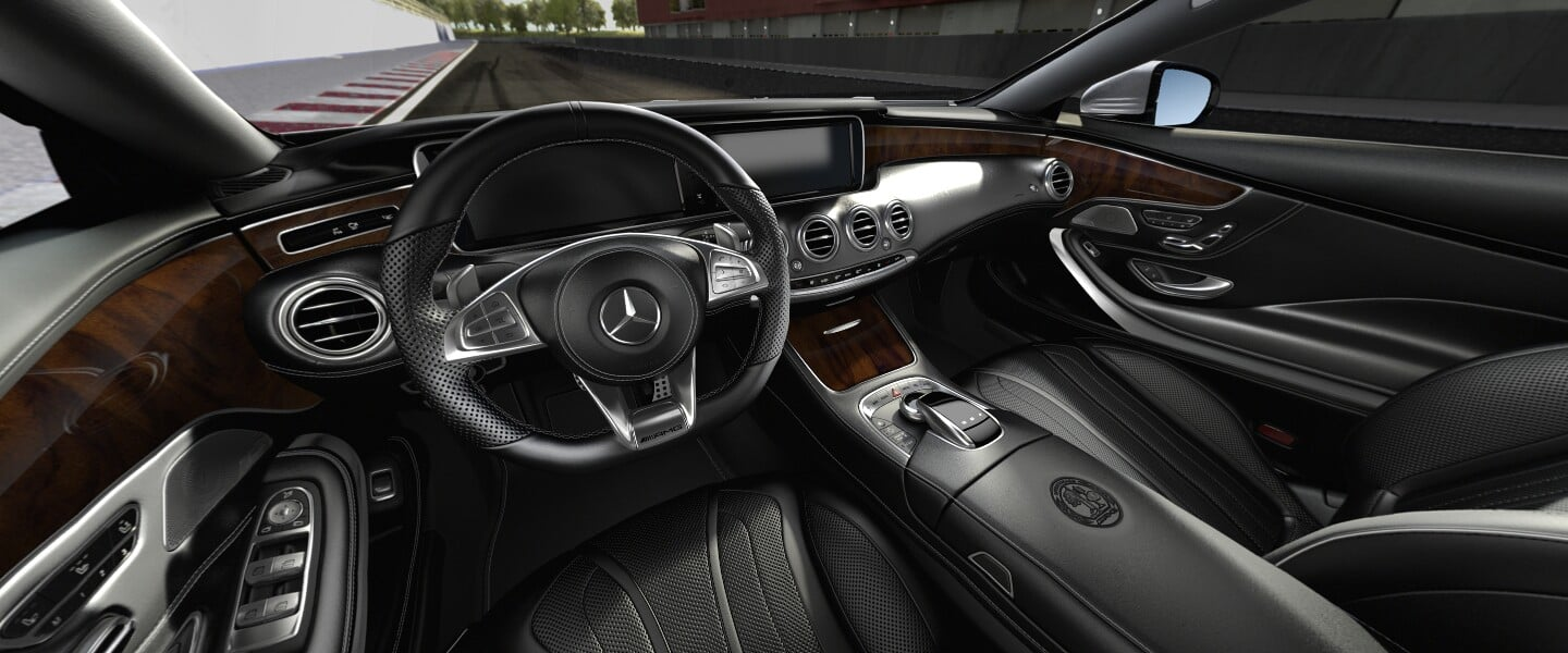 Mercedes AMG S63 Coupe 2016 interior wallpaper HD