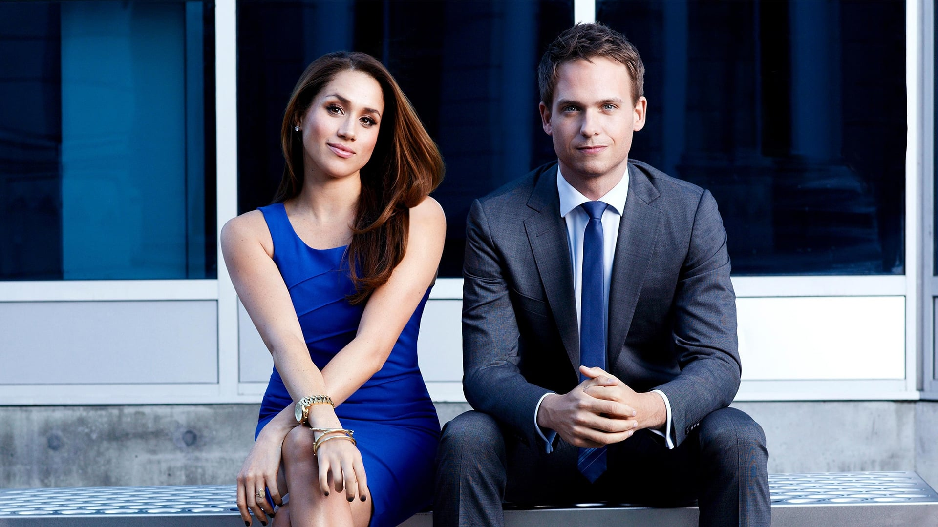 Patrick Adams with Meghan Markle picture