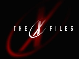 The X Files TV black logo backgrounds