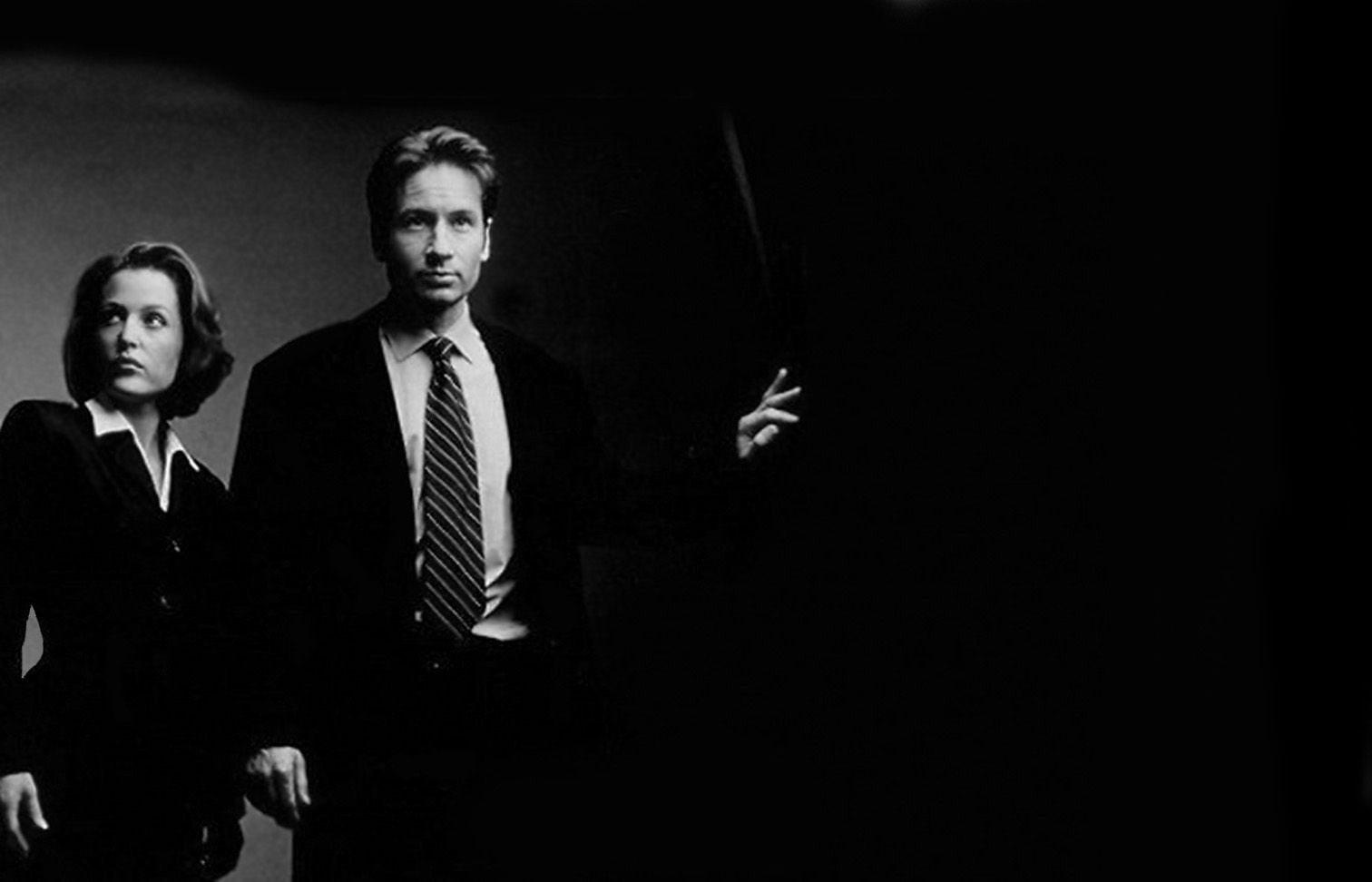 The X Files TV bw photo