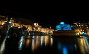 Trafalgar Square at night wallpaper HD