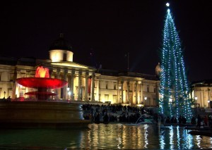Trafalgar Square at winter pictures