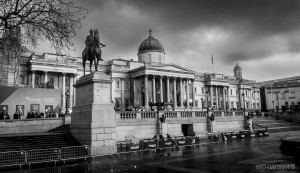 Trafalgar Square bw High Quality wallpapers
