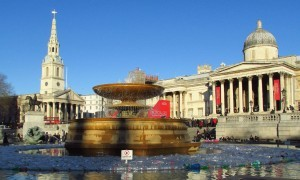Trafalgar Square fountain wallpaper 1080p