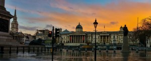 Trafalgar Square sunset 2016