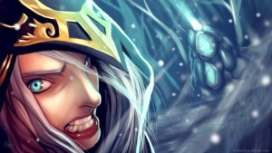 angry Ashe League of Legends wallpapers