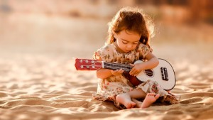 baby girl with guitar HD wallpapers