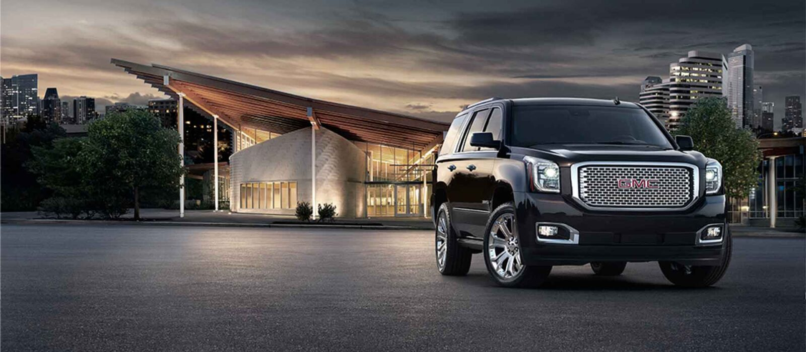 black 2016 GMC Yukon Denali wallpaper HD