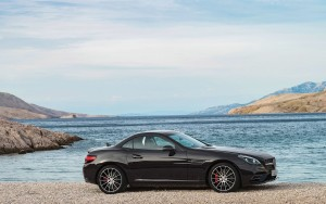 black 2016 Mercedes AMG SLC HD pic for PC