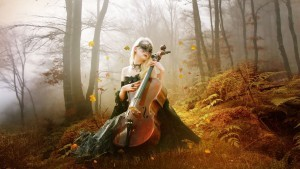 Image of fantasy girl with guitar