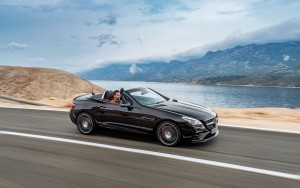 speed 2016 Mercedes AMG SLC wallpaper HD