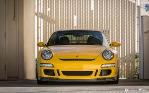 yellow 2016 Porsche 911 GT3 desktop HD