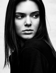 bw photo of Kendall Jenner Android