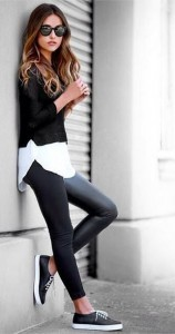 Black Sweater Top leggins background